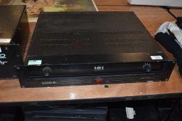 A vintage HH S500-D power amplifier