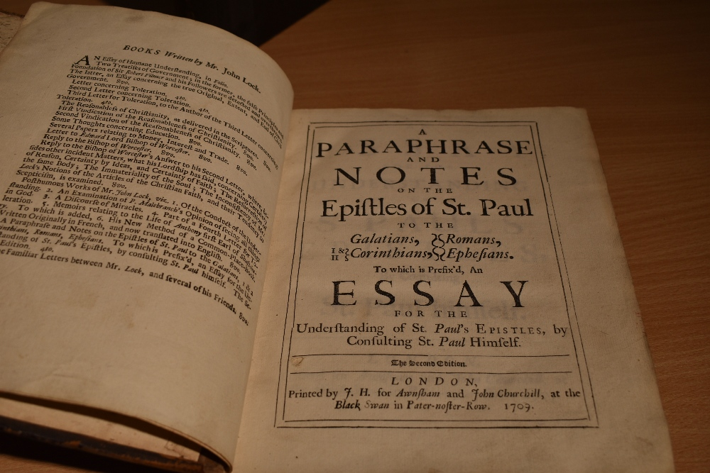 Antiquarian miscellany. A carton, includes; A Paraphrase and Notes on the Epistles of St. Paul. - Image 3 of 9
