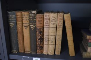 Sporting and related. Four volumes from the Fur, Feather and Fin series and five volumes by