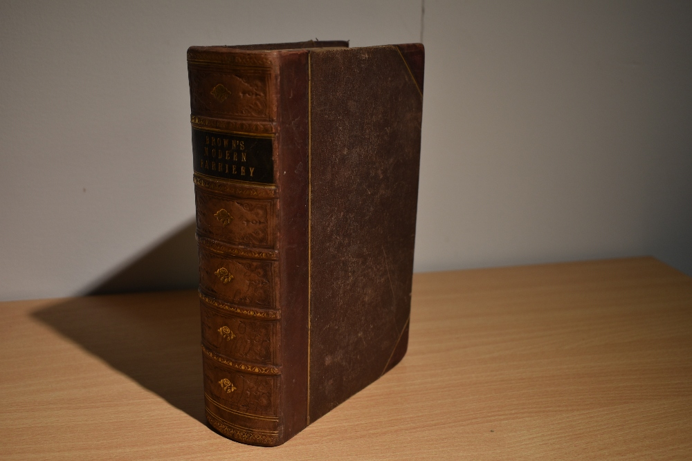Natural History/Veterinary Science. Brown, Thomas - A Manual of Modern Farriery; &c. London: