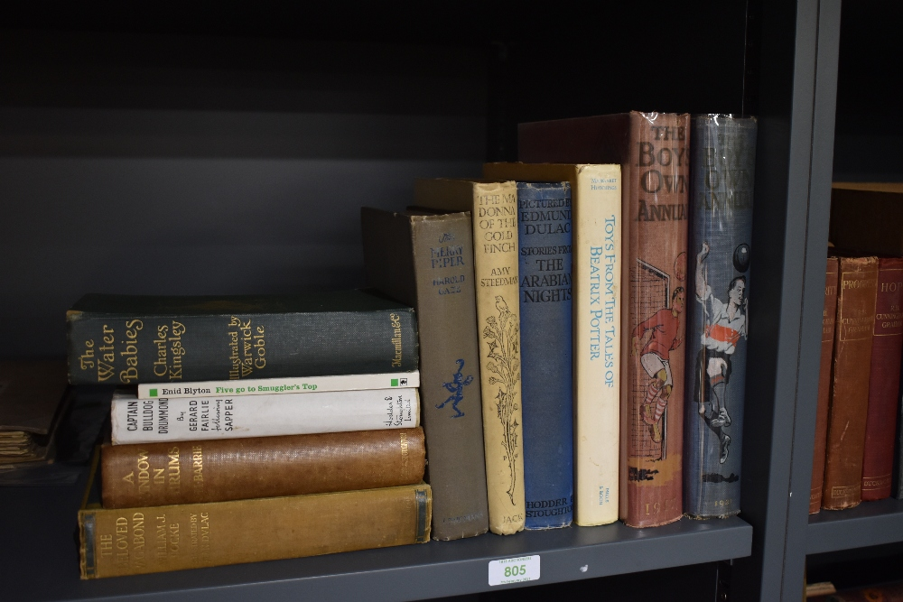 Children's. A selection, includes; Arabian Nights illustrated by Edmund Dulac; The Water-Babies