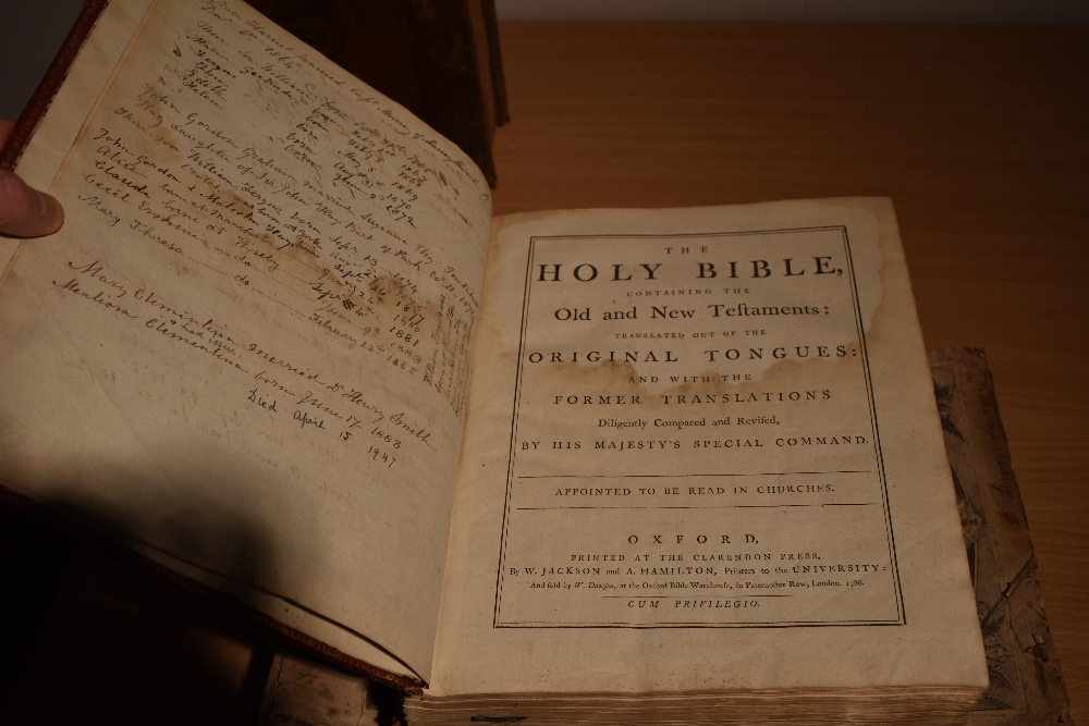 Antiquarian. Bibles and Religion. Includes; Holy Bible - Oxford: 1786. Contemporary binding, worn. - Image 3 of 4
