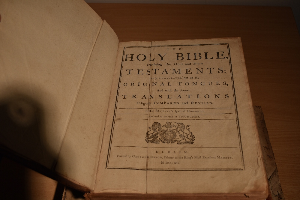 Antiquarian. Bibles and Religion. Includes; Holy Bible - Oxford: 1786. Contemporary binding, worn. - Image 4 of 4
