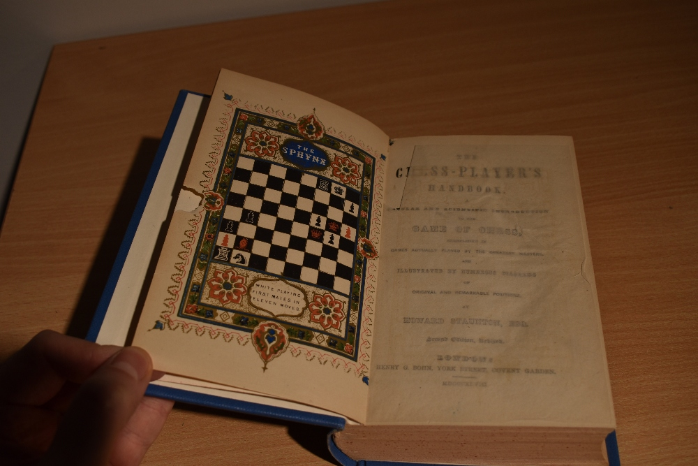 Chess. Staunton, Howard - The Chess-Player's Handbook. London: 1848. 2nd edtion, revised. Re-bound - Image 2 of 3