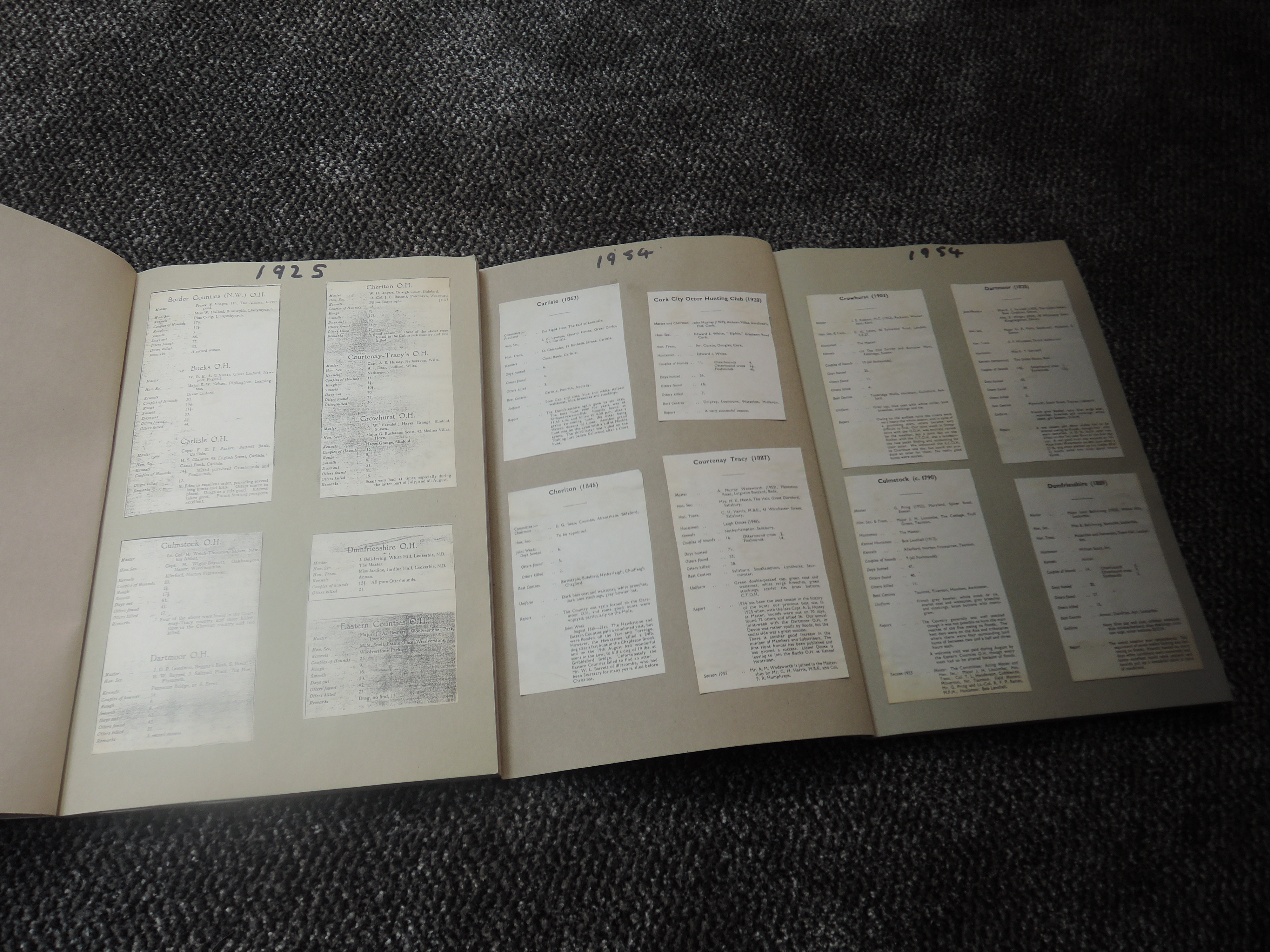 Otter Hunting and related. A large selection, condition mixed. Includes specific Hunt records, - Image 5 of 8