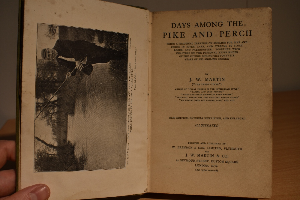 Fishing & Angling. Signed copy. Martin, J. W. - Days Among The Pike & Perch. Plymouth: W. - Image 4 of 4