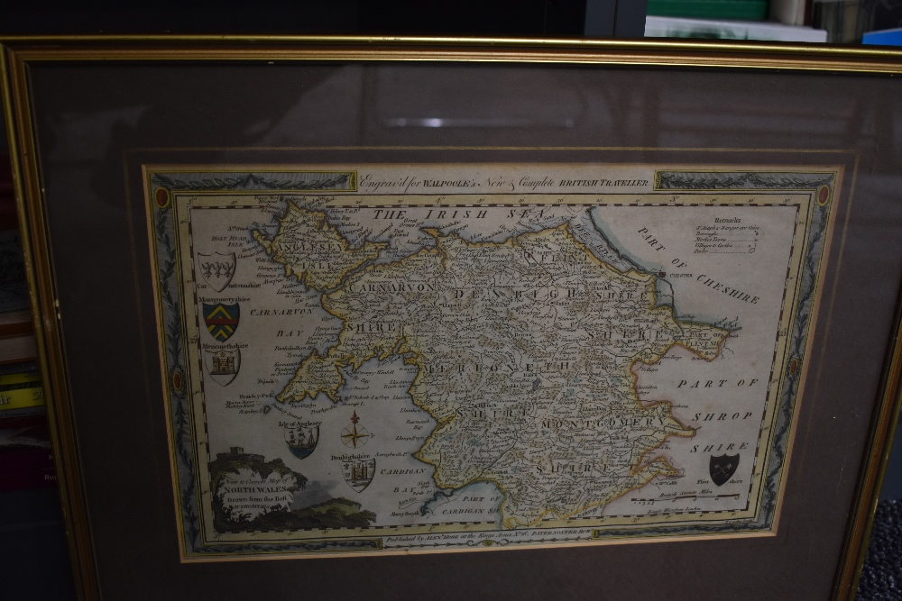 Antiquarian Maps. North Wales. John Speed - Merionethshire. Later colouring, framed and glazed. - Image 2 of 2