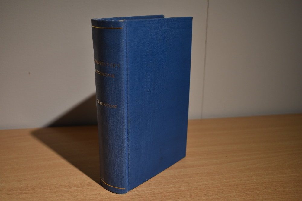 Chess. Staunton, Howard - The Chess-Player's Handbook. London: 1848. 2nd edtion, revised. Re-bound