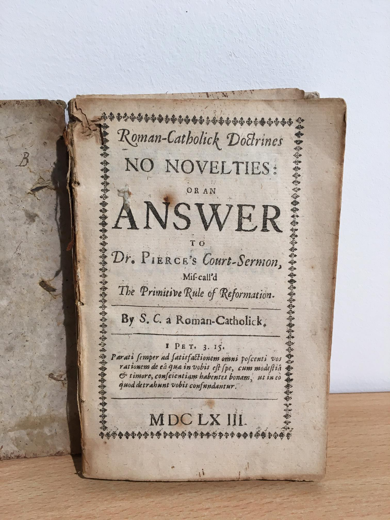 Antiquarian miscellany. A carton, includes; A Paraphrase and Notes on the Epistles of St. Paul. - Image 5 of 9