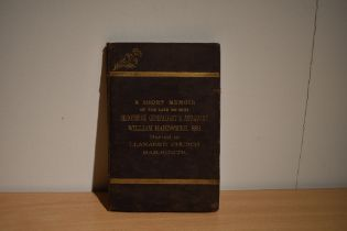 Presentation copy. Smith, Hubert - A Short Memoir of the Late Eminent Shropshire Genealogist and