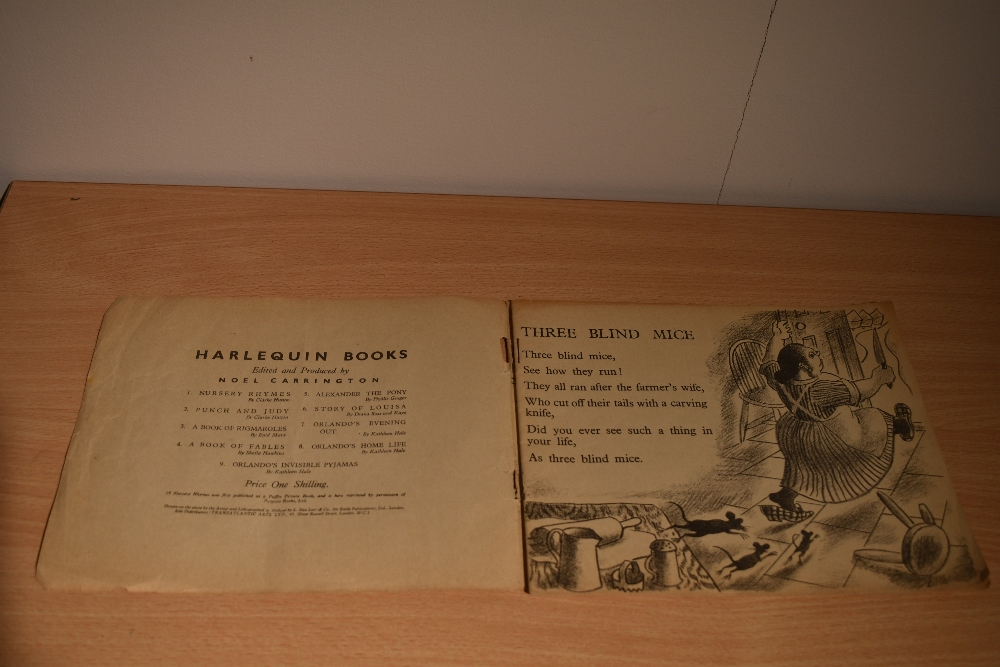 Children's. A Harlequin Picture Book. 15 Nursery Rhymes with drawings by Clarke Hutton. London: - Image 2 of 3