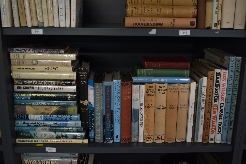 Mountaineering and related. A large selection, includes works by; Ken Wilson, F. S. Smythe; etc. (