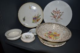 A selection of ceramics including Royal Worcester and Beswick