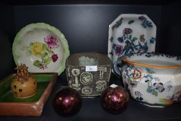 A selection of ceramics including Losol ware serving dish and Masons
