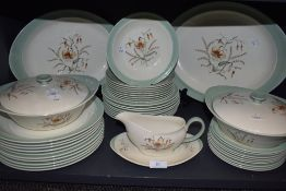 A part dinner service by Wedgwood Barlaston and Etruria Tiger Lily
