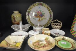 A selection of Royal Doulton series ware including trinket and pin dishes