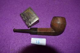 A vintage vesta case a tourist keepsake for Blackpool and similar tobacco smokers pipe