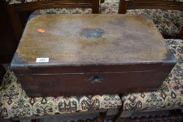 A large Victorian mahogany lap desk, approx. dimensions 50 x 28 x 19cm