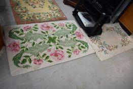 Four vintage wool rugs