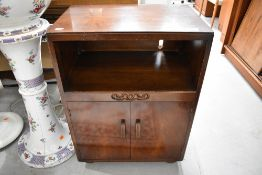 A mid 20th Century bedside or TV/Hifi cabinet, width approx. 53cm