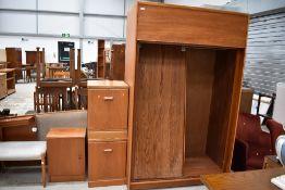 A selection of vintage teak bedroom furniture including McIntosh