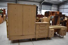 A vintage Lebus Link three piece bedroom suite