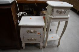 Two painted French style occasional furniture items