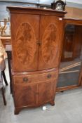 A reproduction Regency style hifi/side cabinet, approx. width 62cm height 134cm