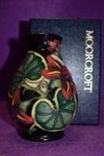 A Moorcroft Palmata vase designed by Shirley Hayes, circa 1999.box included.