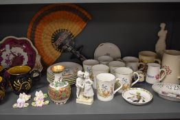 A mixed lot of ceramics including cups and saucers, studio pottery, Spode Imperial and more.