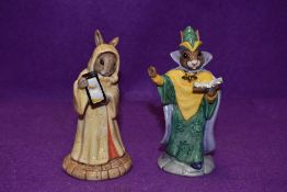 Two Royal Doulton Bunnykins figurines, Mystic Bunnykins DB197 and Sands of Time DB229