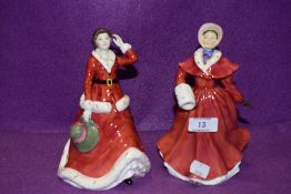 Two Royal Doulton figurines, The Skater HN3439 and Winter's Day HN3769
