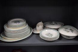 A good quantity of Wedgwood Woodbury plates, tureens, bowls and more, around twenty nine items.