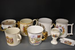 A collection of vintage and retro coronation ware.