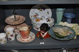 A collection of mixed items including ceramics such as Royal Doulton Evesham,Shorter,Royal Winton