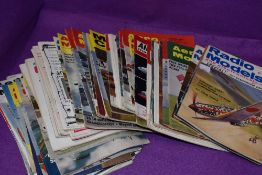 A selection of model making aviation and plane mgazines including Radio Models and Airfx magazine