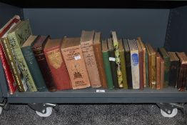 A collection of predominantly vintage books including Gardening interest and war interest.