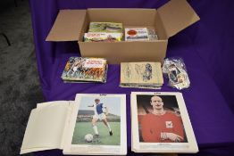 A collection of Trade Cards and Cigarette Cards in albums and loose including Set 1 & 2 of Typhoo