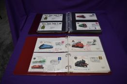 Two albums of GB First Day and Commemorative Railway Covers including special cancellations, 1970'