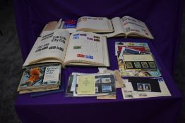 A collection of mainly GB and Commonwealth Stamps in albums, loose and in presentation packs, plus