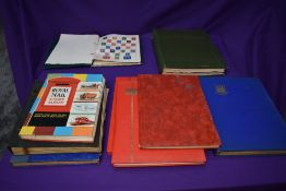Nine Albums and Stock Books of World Stamp, Mint and Used, Early to modern, Most countries