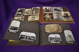 A 1930's photograph and ephemera album relating to a high society family, some photographs bearing