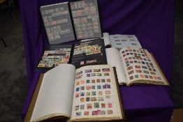 Five Albums of GB, Commonwealth and World Stamps, Mint and Used, 20th Century