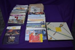 A large collection of GB Presentation Packs, Booklets, Loose Stamps in envelopes and a 1989 Year