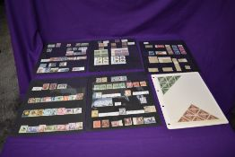 A collection on six Stock Cards of Australia and New Zealand Stamps, mint and used, 1800's - 1960's,