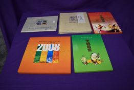 Four Chinese Stamp Year Books, 1996, 1997, 1998 & 2008 including stamps and a Taiwan Endangered