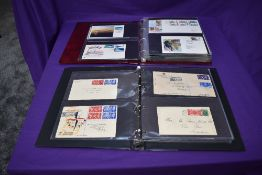 Two albums of GB pre decimal First Day Covers, 1936-1970 including Universal Postal Union, 1948
