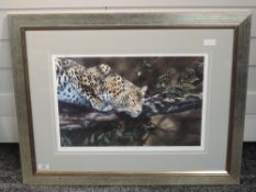 A Ltd Ed print, after Philip Allder, Malice aforethought, wildlife, numbered 33/295, signed and