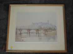 A Ltd Ed print, after Mario Ottenello, Lancaster, signed and num 91/500, 37 x 46cm, framed and