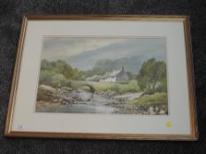 A watercolour, Keith Burtonshaw, Grange in Borrowdale, signed, 35 x 53cm, framed and glazed